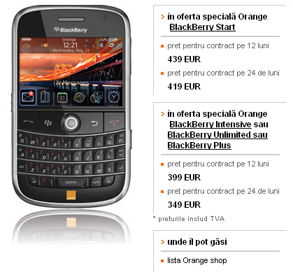 oferta Orange Blackberry Bold