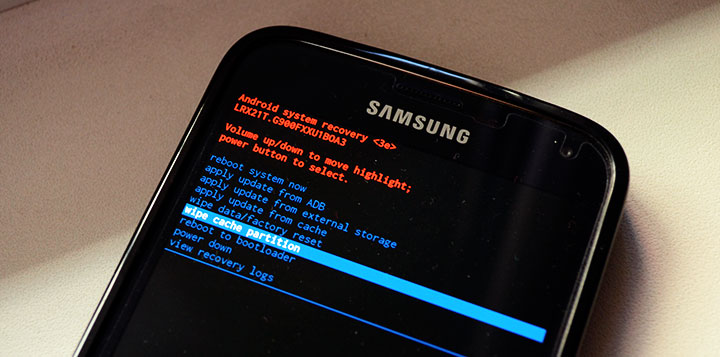 samsung galaxy s5 wipe cache partition