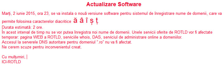 domenii romanesti .ro cu diacritice