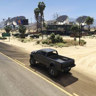 GTA 5 PC - Cu camioneta prin desert
