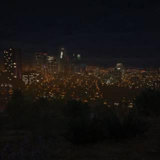 GTA 5 PC - Los Santos vazut noapte din departare