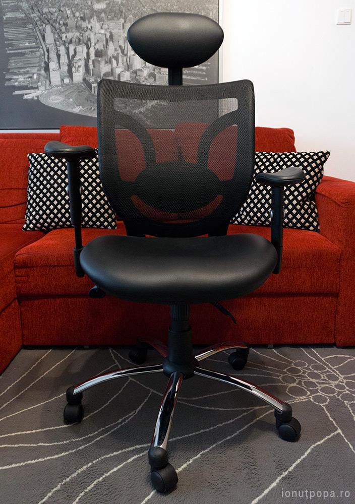 scaun de birou ergonomic off 910 vedere din fata