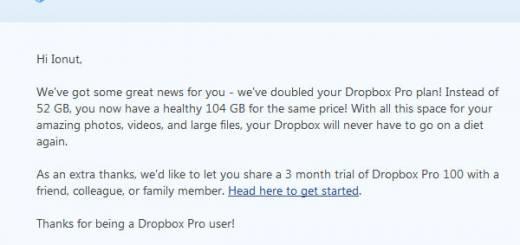 Dropbox creste spatiul oferit pentru stocare & sincronizare