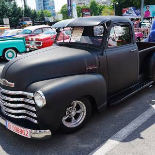 Retro American Muscle Cars - Chevy Pickup