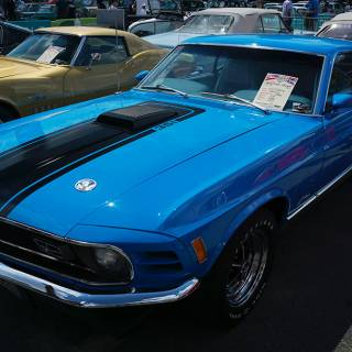 Retro American Muscle Cars - Ford Mustang Mach 1