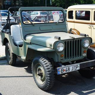 Retro American Muscle Cars - Willys Jeep