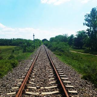 Traseu cu bicicleta langa Parcul Natural Comana - Pe aici trecea TGV-ul de la CFR