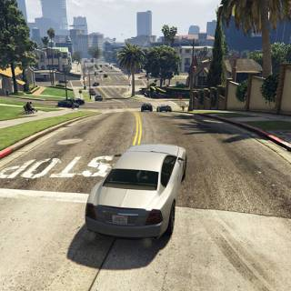 GTA 5 PC - Strazi care coboara spre downtown Los Santos